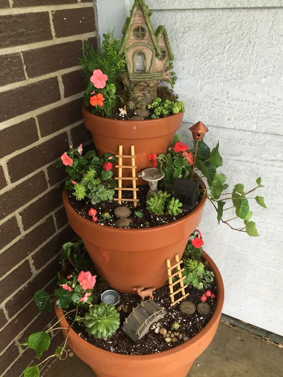 Porch Fairy Garden