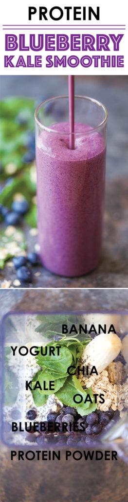 Protein Blueberry Kale Smoothie