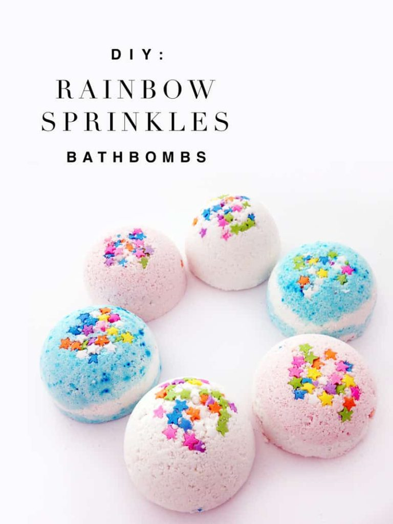 Rainbow bath bomb ideas