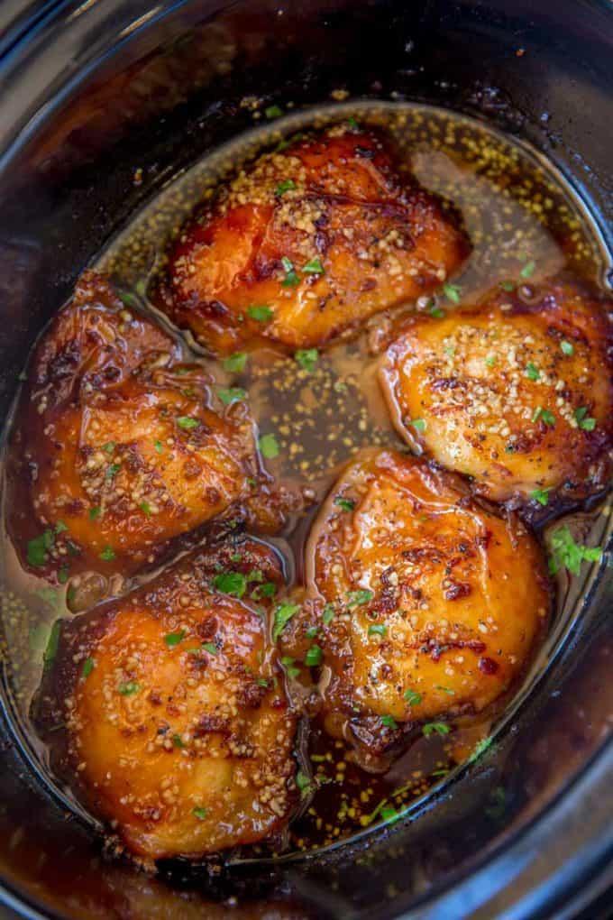 Slow Cooker Brown Sugar Garlic Chicken