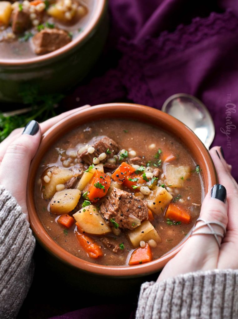 Slow cooker soup recipe beef