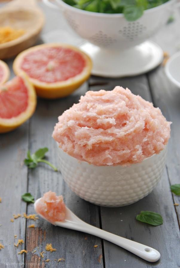 Whipped Grapefruit Mint Sugar Scrub