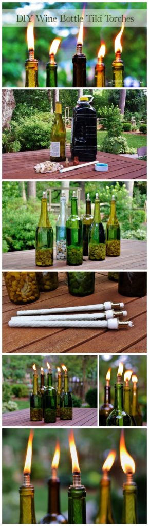 Wine Bottle Recycled Projects