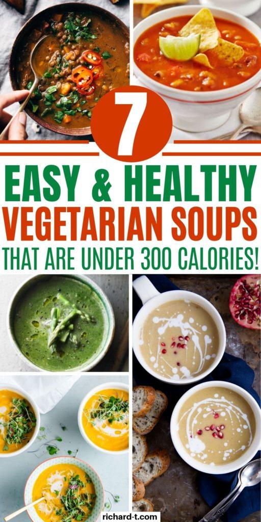 7 Healthy Vegetarian Soups