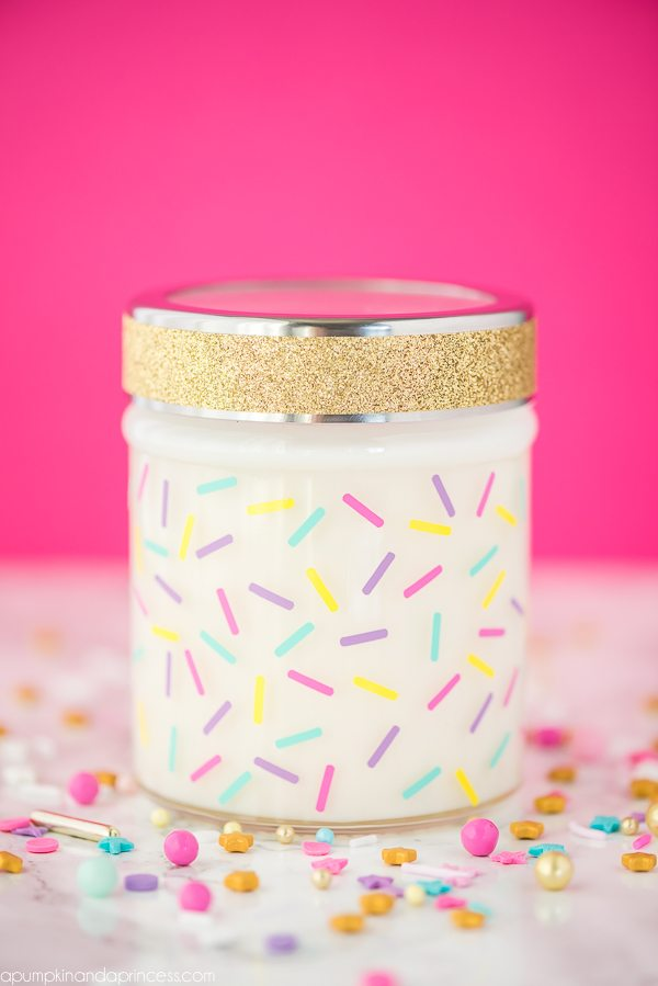 DIY Birthday Cake Jar Candle
