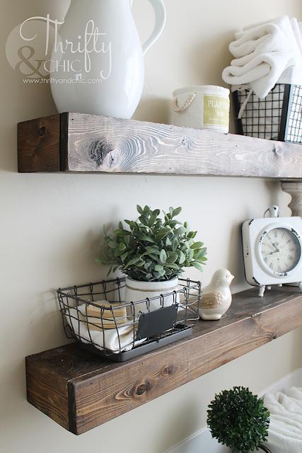 DIY Floating Rustic Shelves