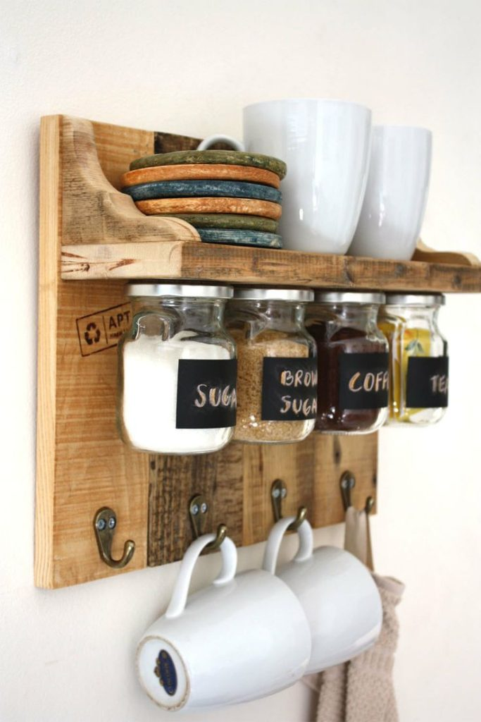 DIY Home Decor Rustic Coffee Stand