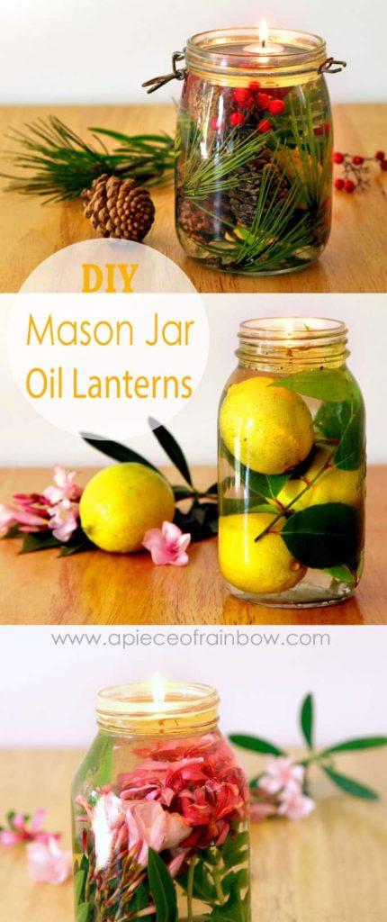 DIY Mason Jar Oil Lamps