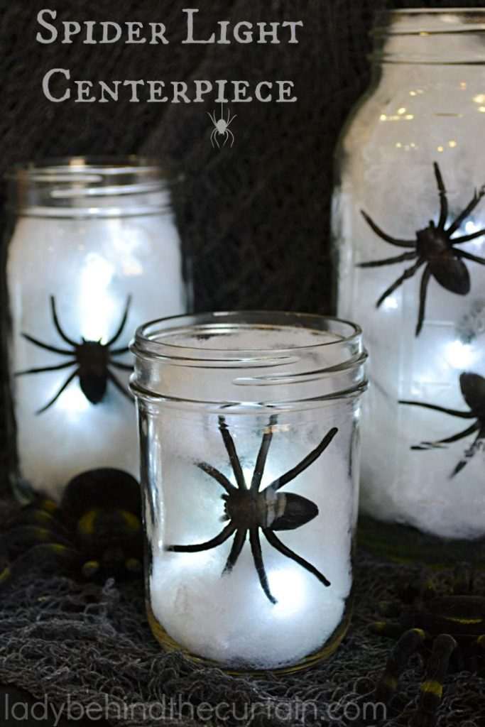 Halloween Spider Light Centerpiece