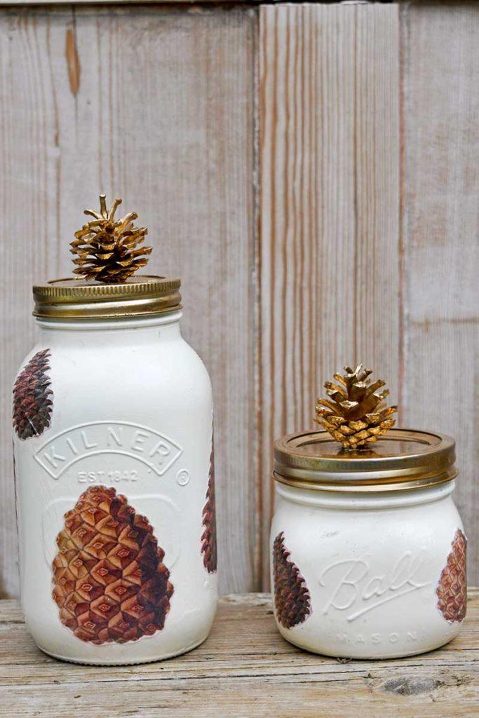 Pine Cone Fall Mason Jar