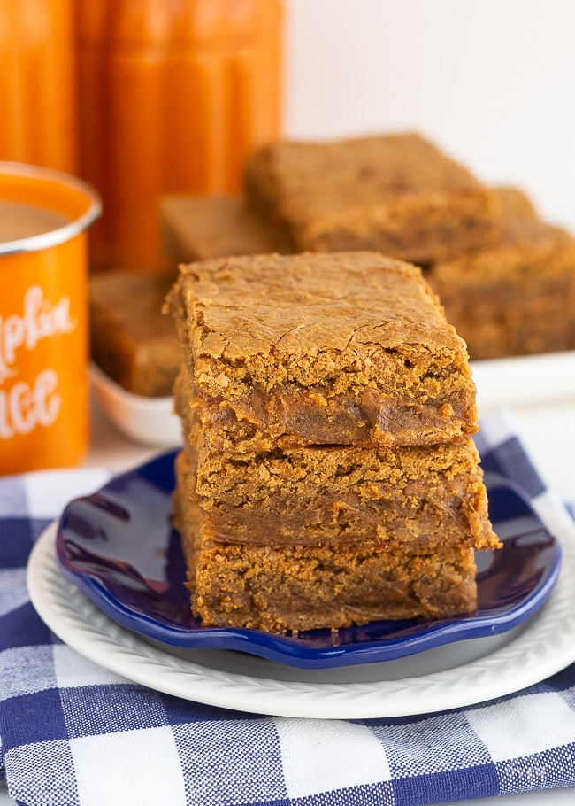 Pumpkin Blondies dessert