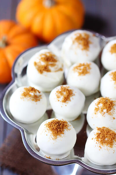 Pumpking Dessert Recipes Cream Cheese Truffles
