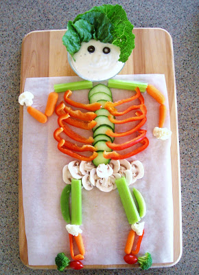 Veggie Skeleton Halloween Ideas
