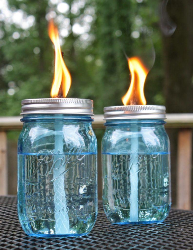 citronella mason jars