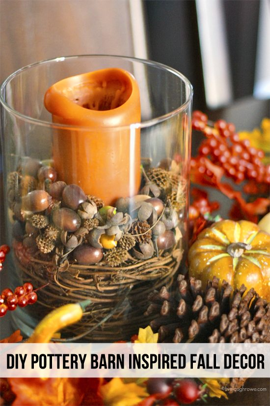 Acorn Candle Centerpiece