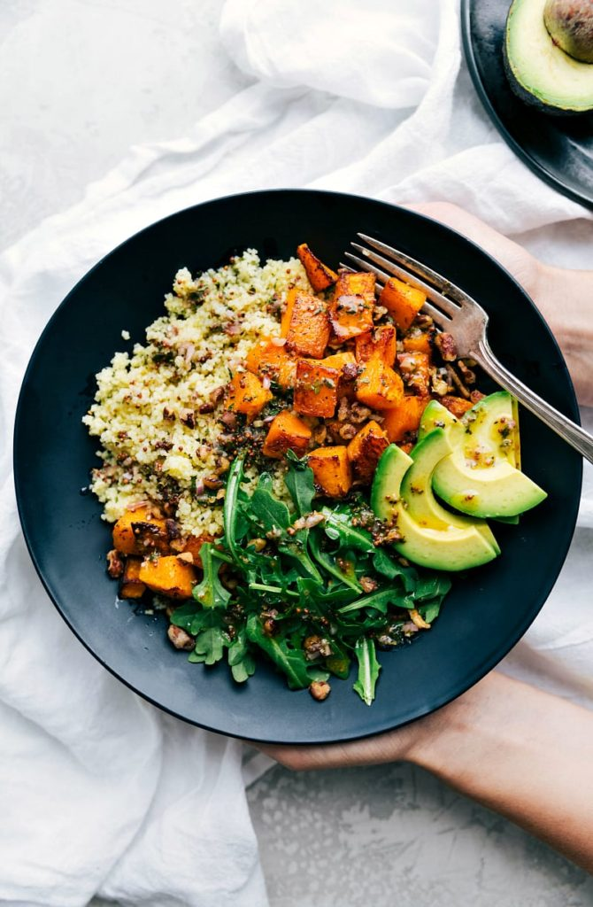 Butternut Squash Couscous Bowls Healthy Fall Recipe
