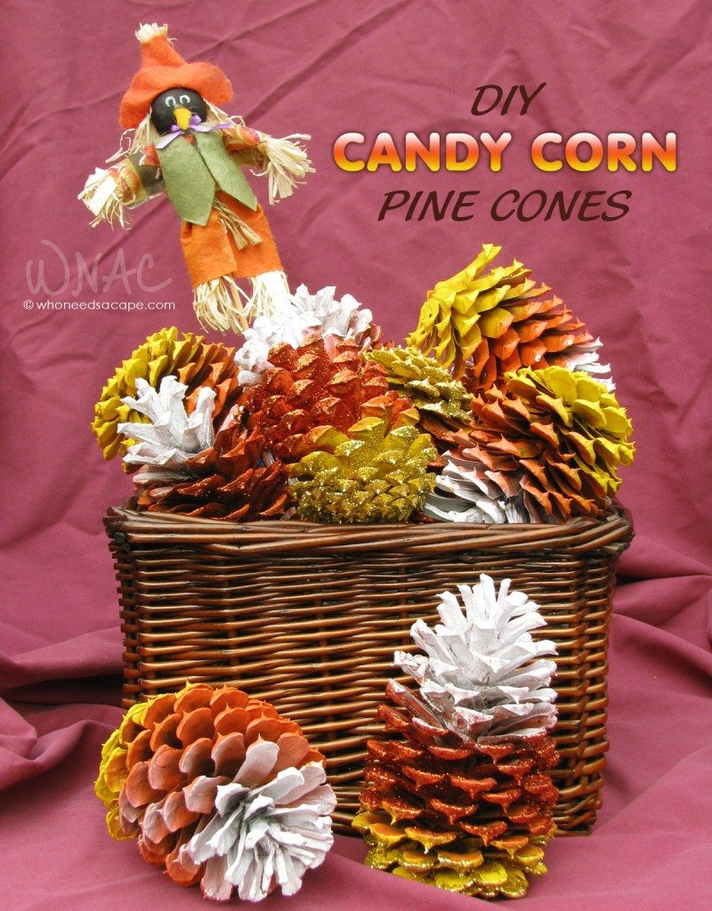 DIY Candy Corn Pines