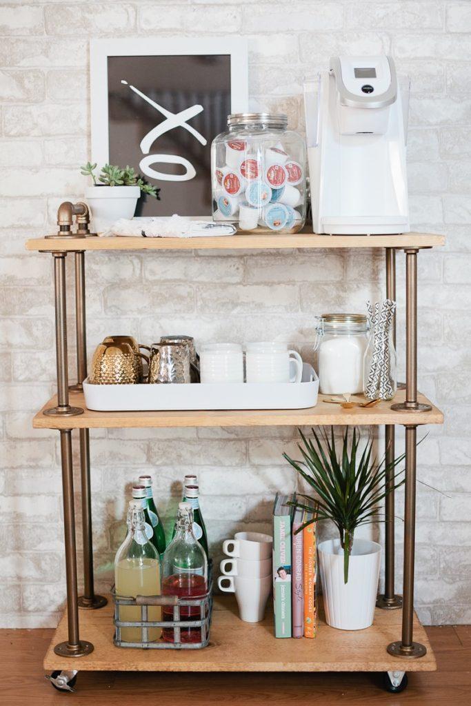 DIY Coffee Bar Cart