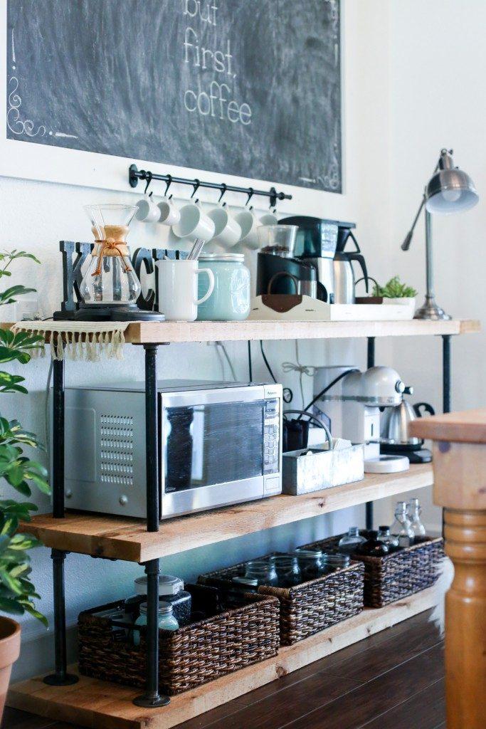 DIY Coffee Bar Ideas & Stations