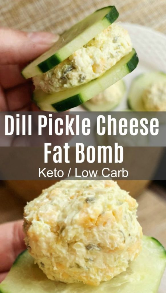 Dill Pickle Cheese Fat Bomb
