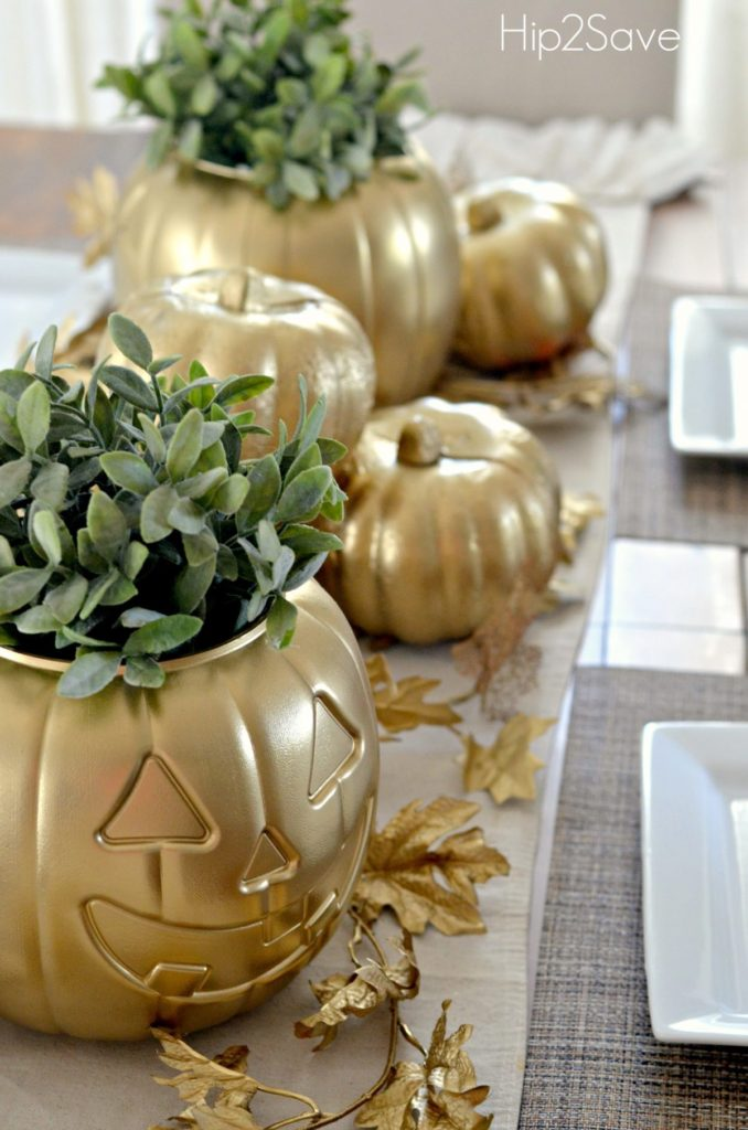 Dollar Store Pumpkin Centerpiece