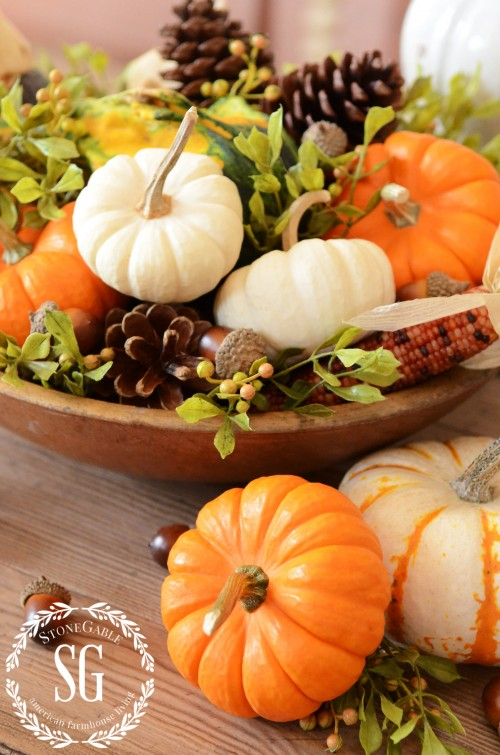Easy 5 Minute Fall Centerpiece