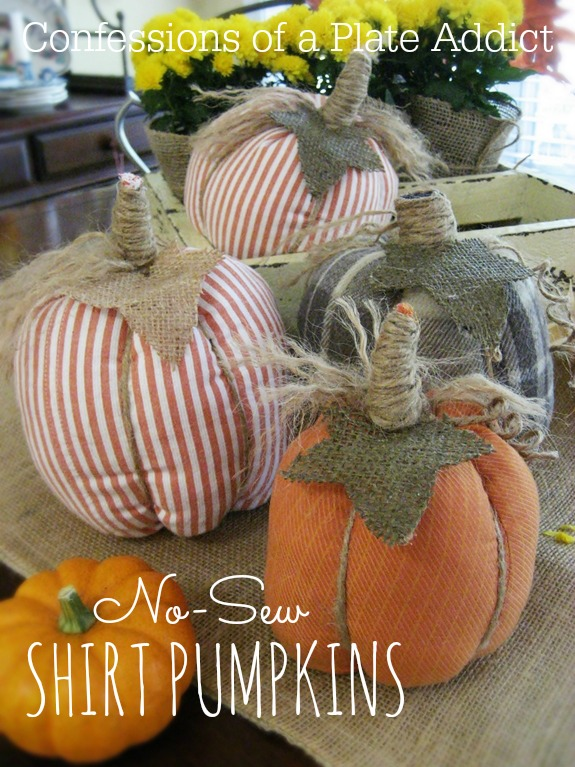 Easy No-Sew Shirt Pumpkins