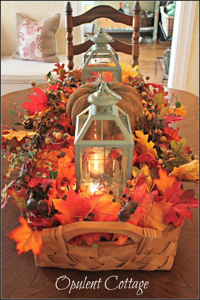 Fall Harvest Basket Centerpiece