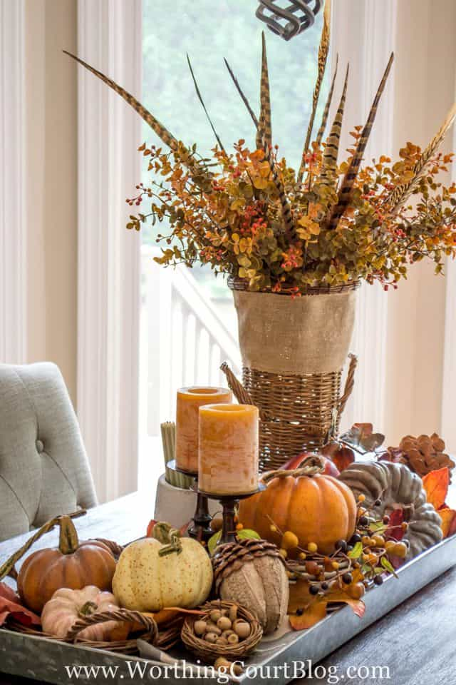 Farmhouse Fall Table Centerpiece