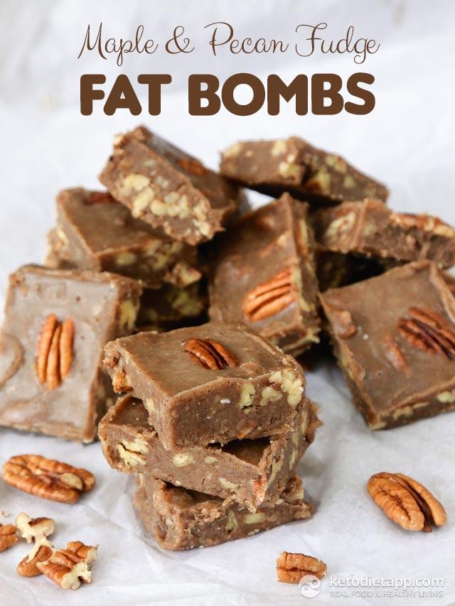 Maple & Pecan Fudge Fat Bombs