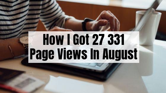 August 2019 Blog Traffic Report