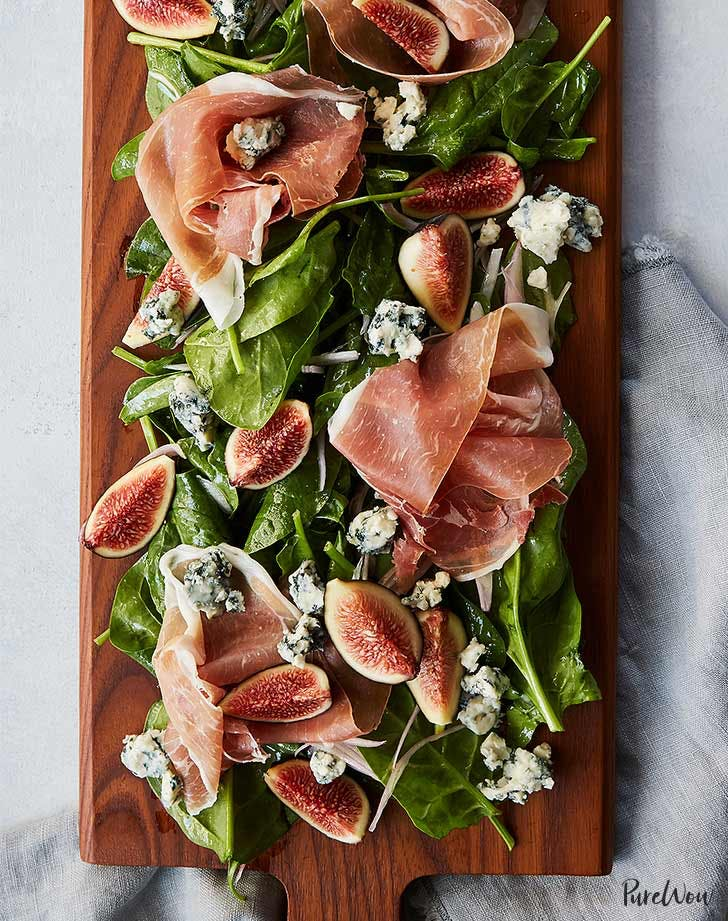 Prosciutto and Fig Salad Board Thanksgiving Appetizer