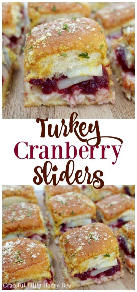 Turkey Cranberry Sliders for Thanksgiving