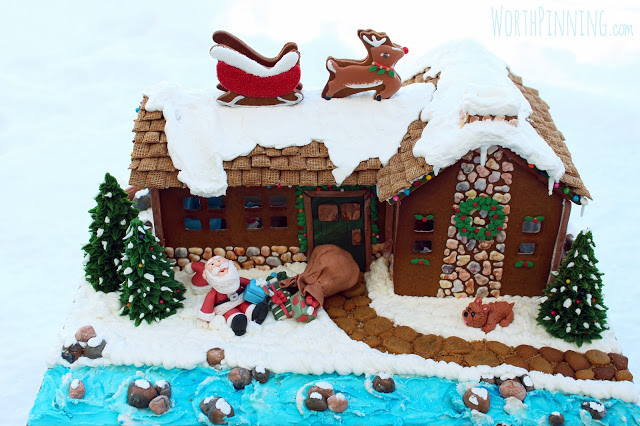 Up on the Rooftop Gingerbread House
