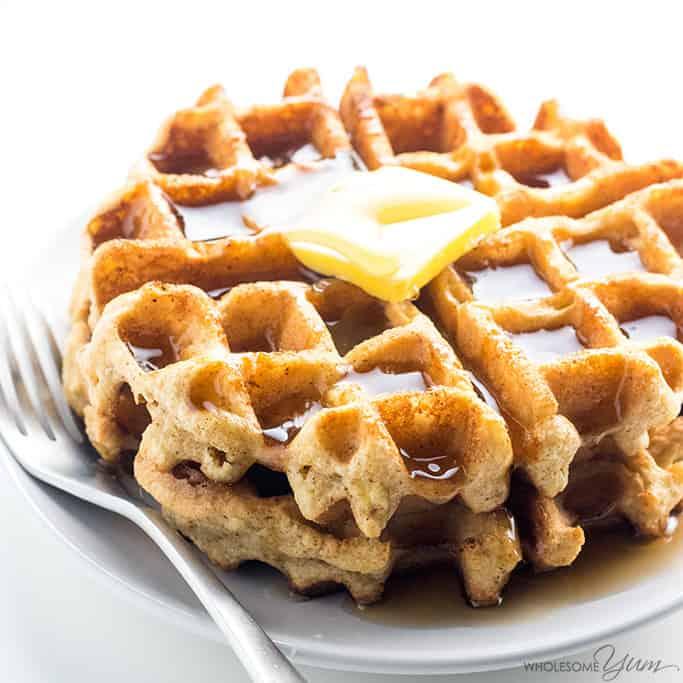 Almond Flour Waffles Keto Breakfast Recipe