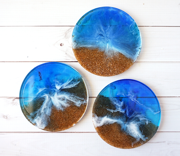 DIY Beach Coasters