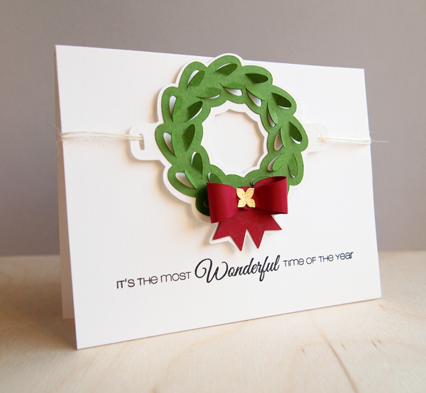 DIY Wreath Christmas Card