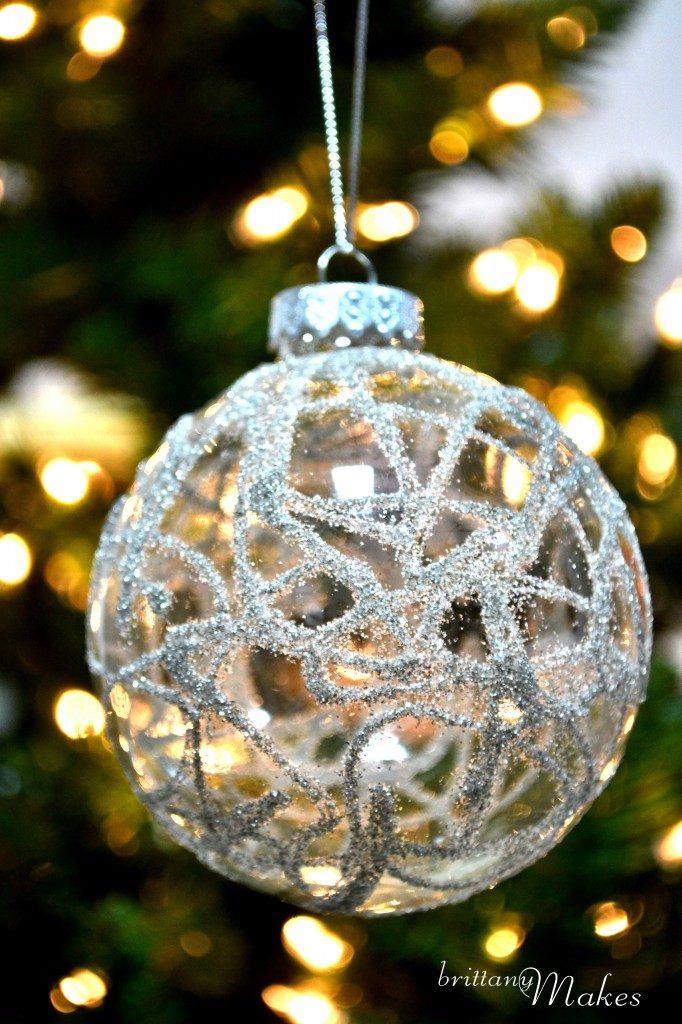 German Glass Glitter Ornaments
