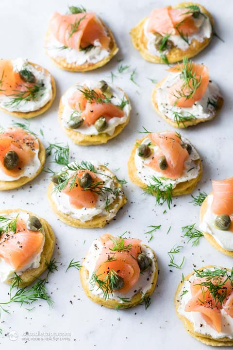 Keto Blinis with Smoked Salmon