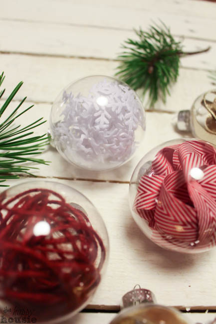 One Minute Ribbon Stuffed DIY Christmas Ornaments