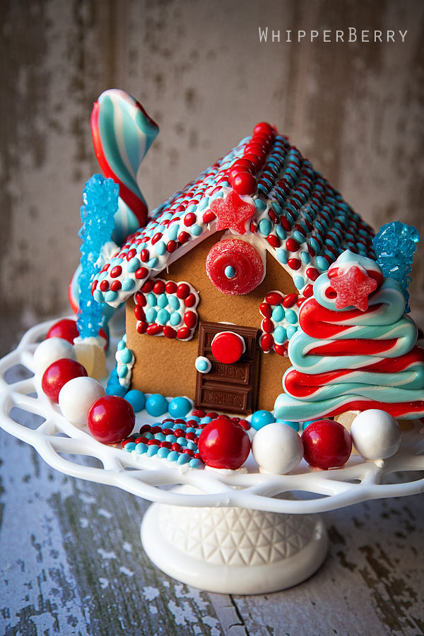 Patriotic Gingerbread House