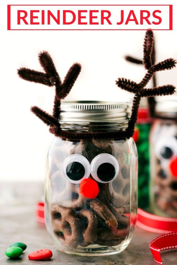 Reindeer Mason Jars