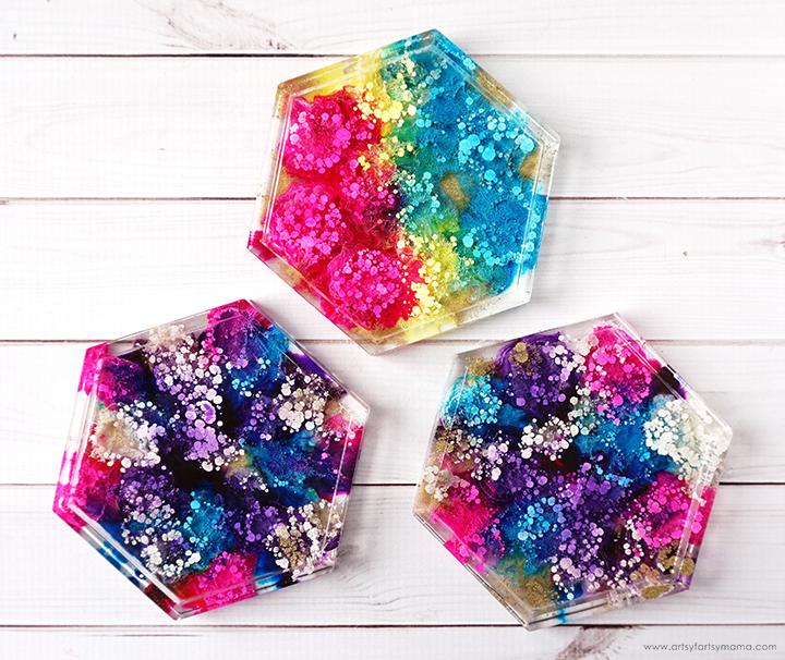 Resin Petri Dish Coasters