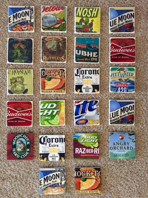 Six Pack Beer Coasters