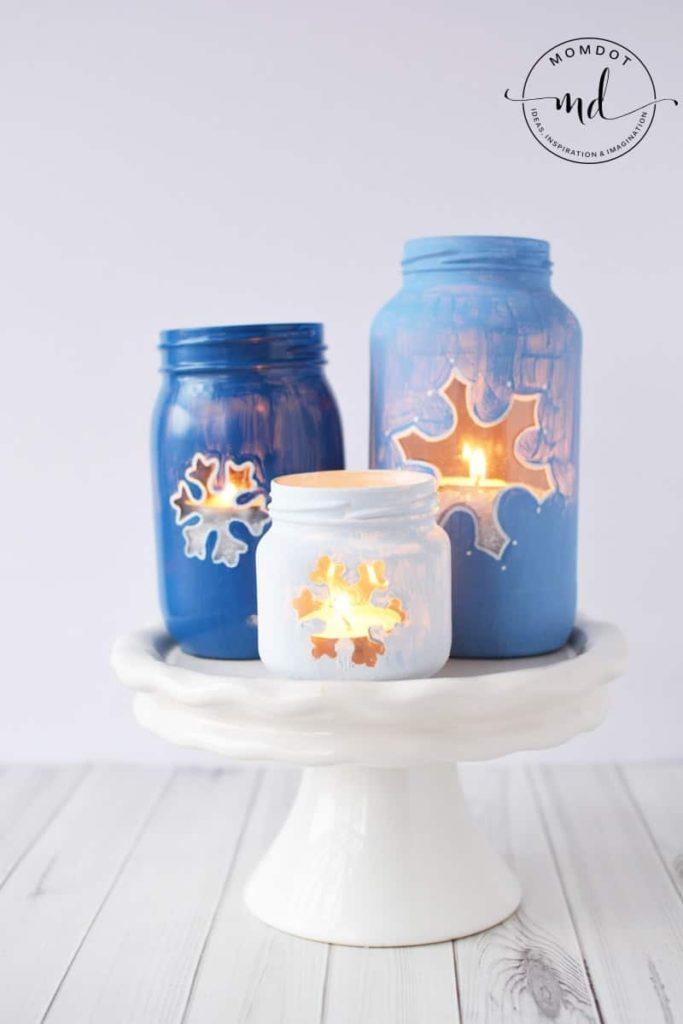 Snowflake DIY Mason Jar