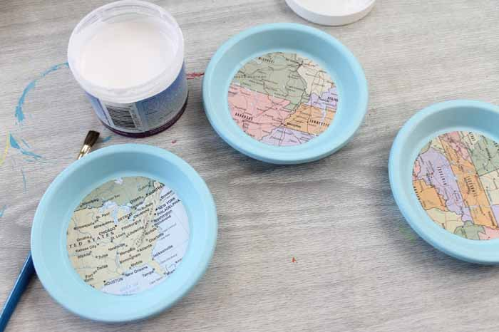 Terracotta Coasters With Maps
