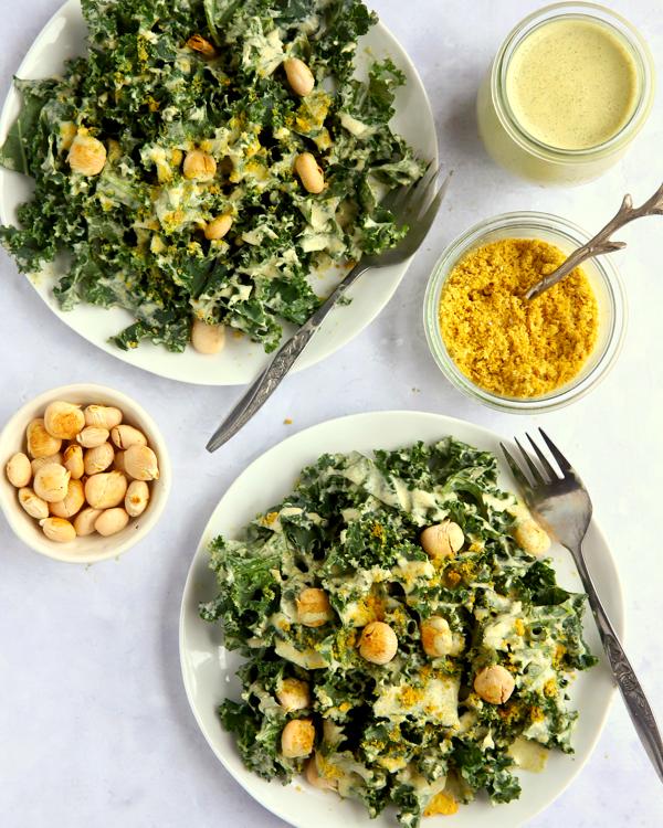 Vegan Keto Kale Salad
