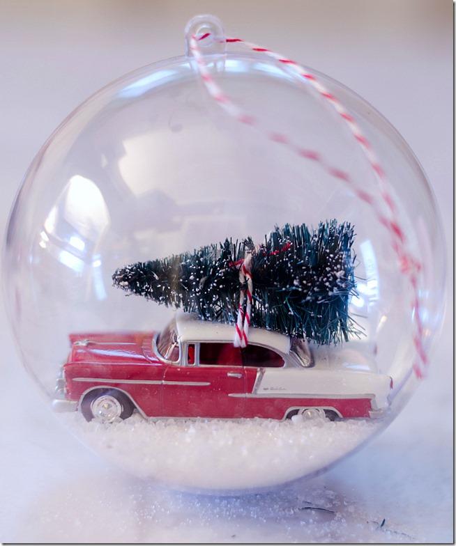 Vintage Car Snow Globe