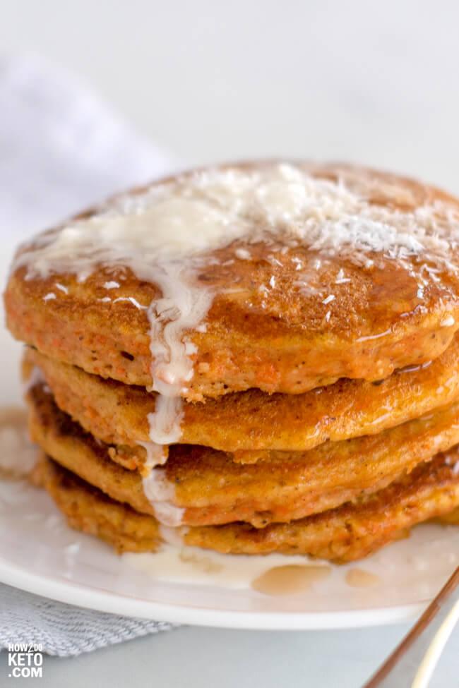 Carrot Cake Keto Pancakes