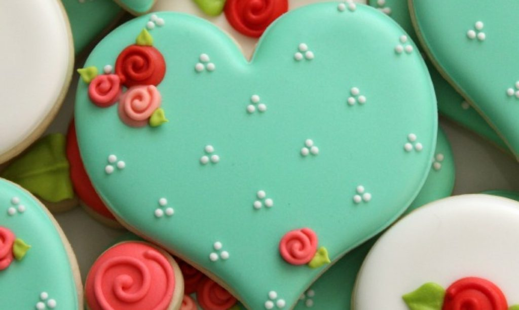 Decorated Valentine Sugar Cookies